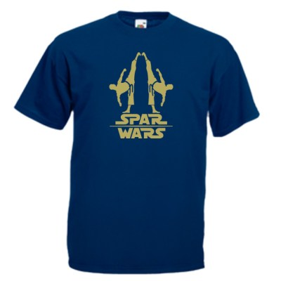 spar-wars-gold-on-navy-blue-Tshirts