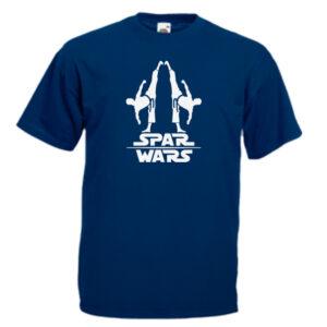 spar-wars-white-on-navy-blue-Tshirts