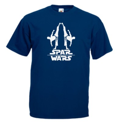 spar-wars-white-on-navy-blue-Tshirts