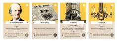 Historical Event Cards. Photo Credit: Tesla vs. Edison: Powering Up! Kickstarter campaign page