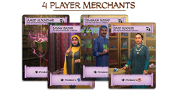 Player Merchant Cards. Photo Credit Merchants of Araby Kickstarter campaign page