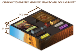 Magnetic Box/ Game Board. Photo Credit Merchants of Araby Kickstarter campaign page