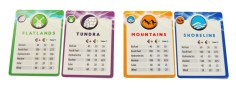 Territory reference cards. Photo Credit: Game of Energy Kickstarter campaign page