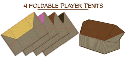Player Tents. Photo Credit Merchants of Araby Kickstarter campaign page