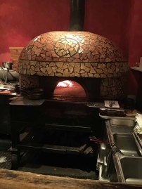 The pizza oven imported from Italy at Bettola Restaurant in Birmingham, Alabama