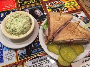 Turkey sandwich with lettuce, tomatoes, mayo, at Johnny's BAR-B-Q