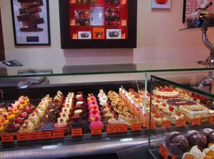 Patisserie in Pierrefonds France and guess what I bought here? A diet coke. Shame on me.