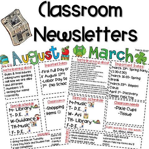 Kindergarten Classroom Newsletter Template Asian Food Near Me