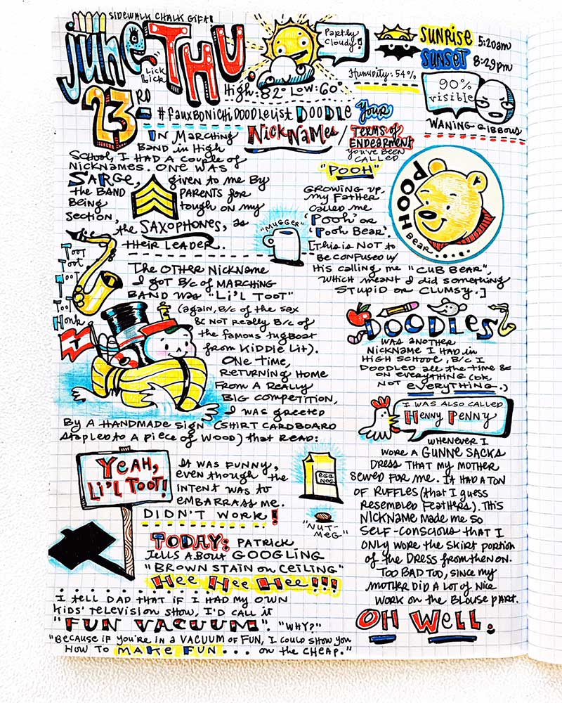 Megan Jeffery Art Journal Page