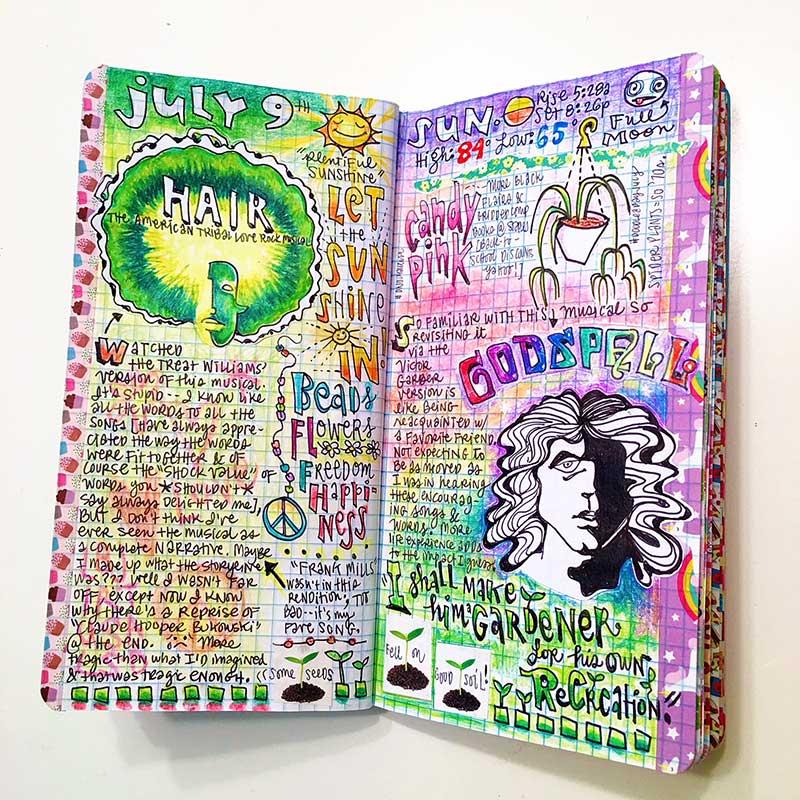 Megan Jeffery art journalling