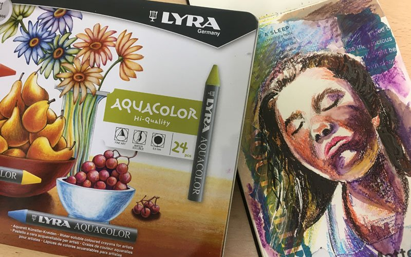 Lyra watercolour wax crayons pastel review