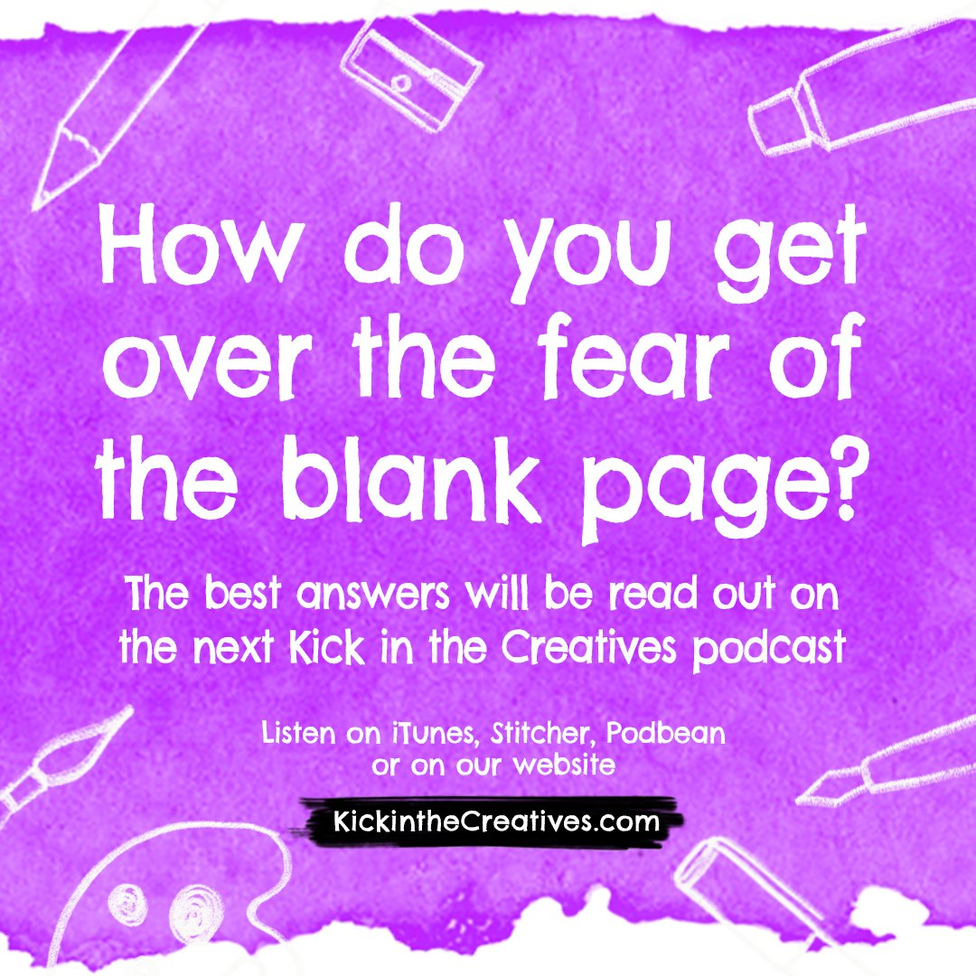 question getting over the fear blank page