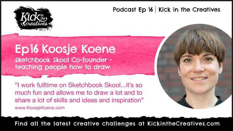 Koosje Koene podcast Sketchbook Skool