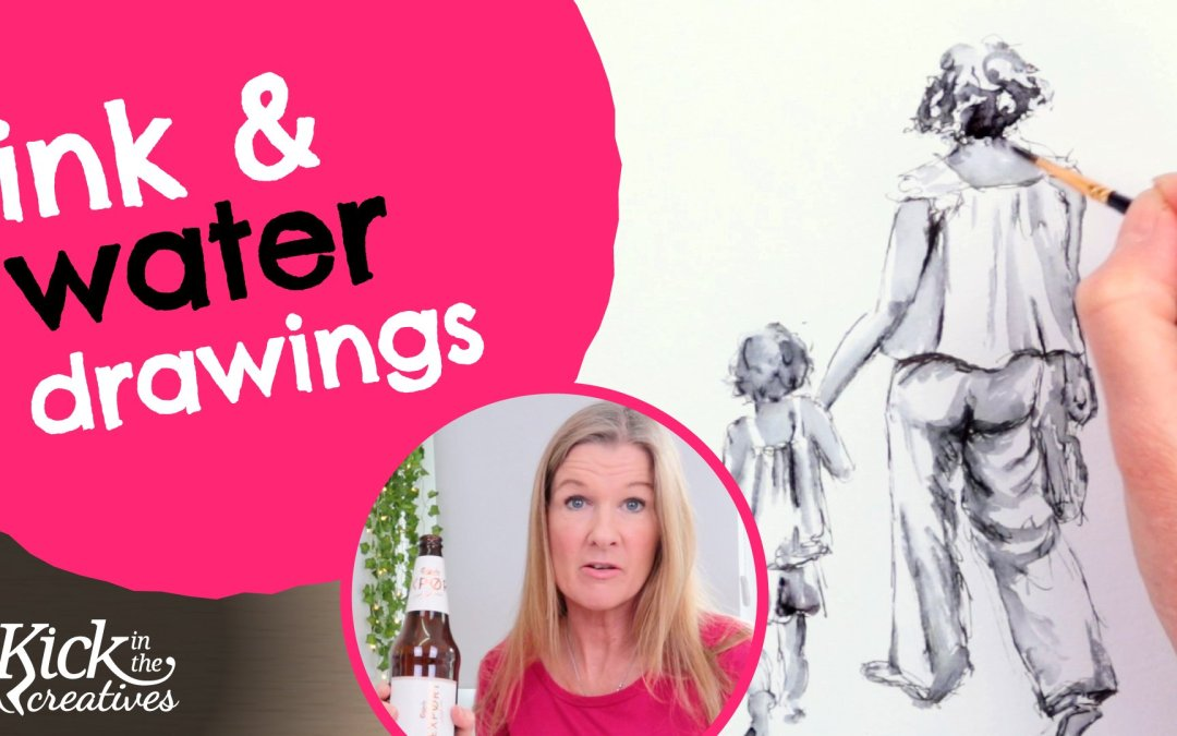 Pen and Water Soluble Ink Drawing Tutorial (Using Water with Ink) – Art Kick Sunday