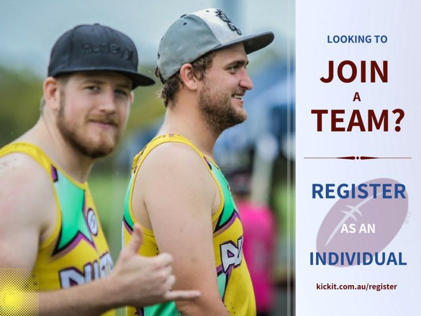 Kick It Touch Football Individual registration. Season Info.