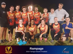 Eight Straight For Next-Gen Champs. 2019 Taringa Autumn Runners Up Rampage.