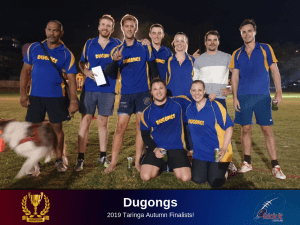 Eight Straight For Next-Gen Champs. 2019 Taringa Autumn runners up Dugongs.
