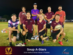Soup A-Stars. Ballerz. 2019 Stafford Winter. Too Out Of Touch.