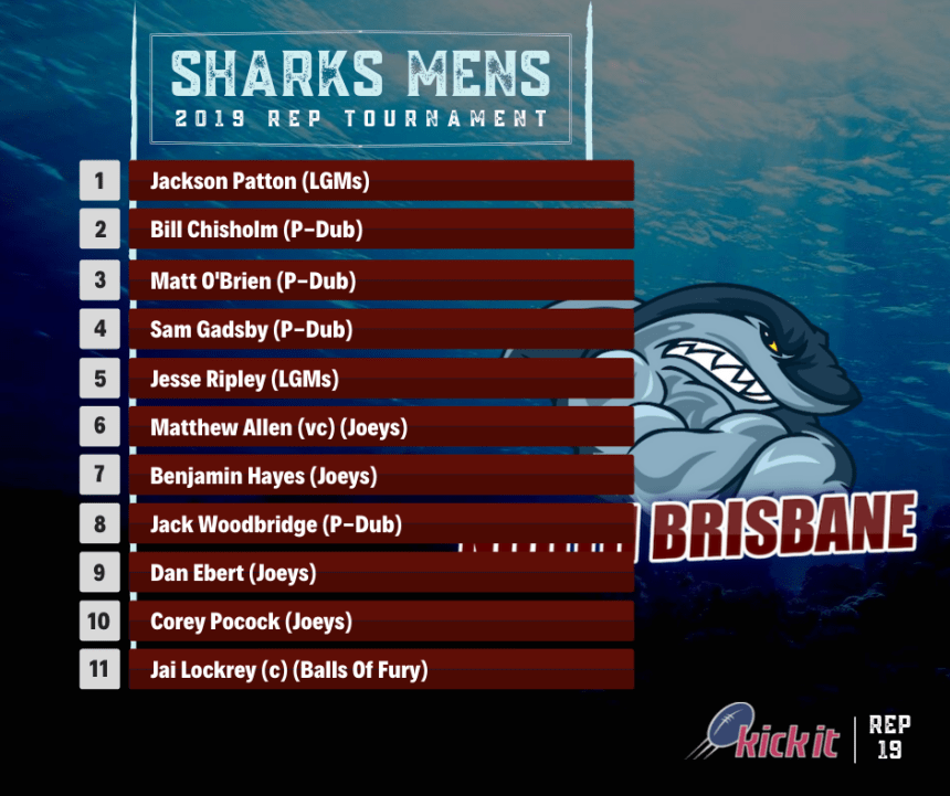 North Brisbane Sharks Rep 19