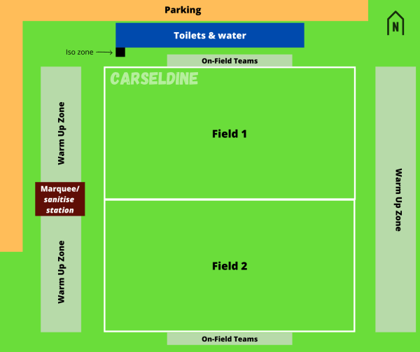 Carseldine Field Map - COVID Safe Plan Kickit Touch Football. Season info