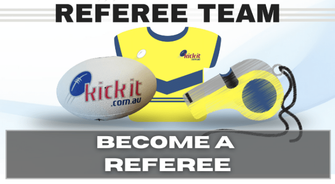 Become a referee. Venue. Register