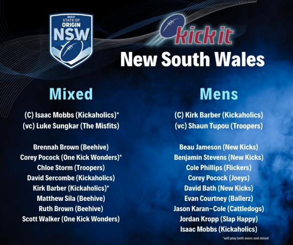 New South Wales Kick It Origin
