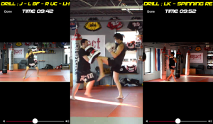 See shadow boxing, partner, and heavy bag versions of drills