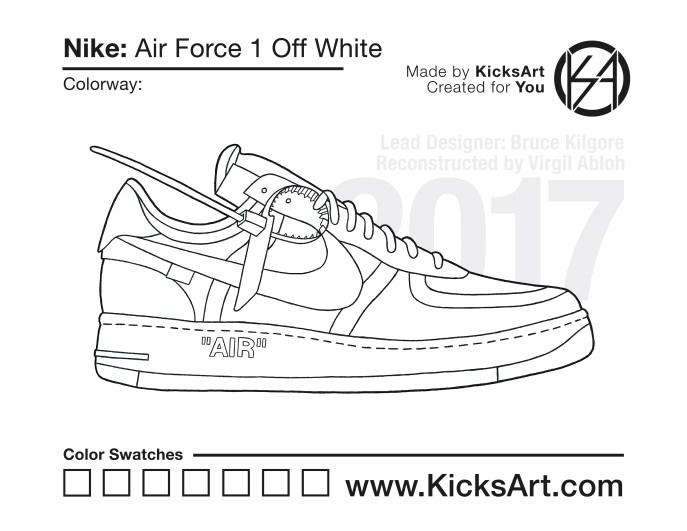 more photos 784d3 ba0a3 Nike Air Force 1 Off White Stencil