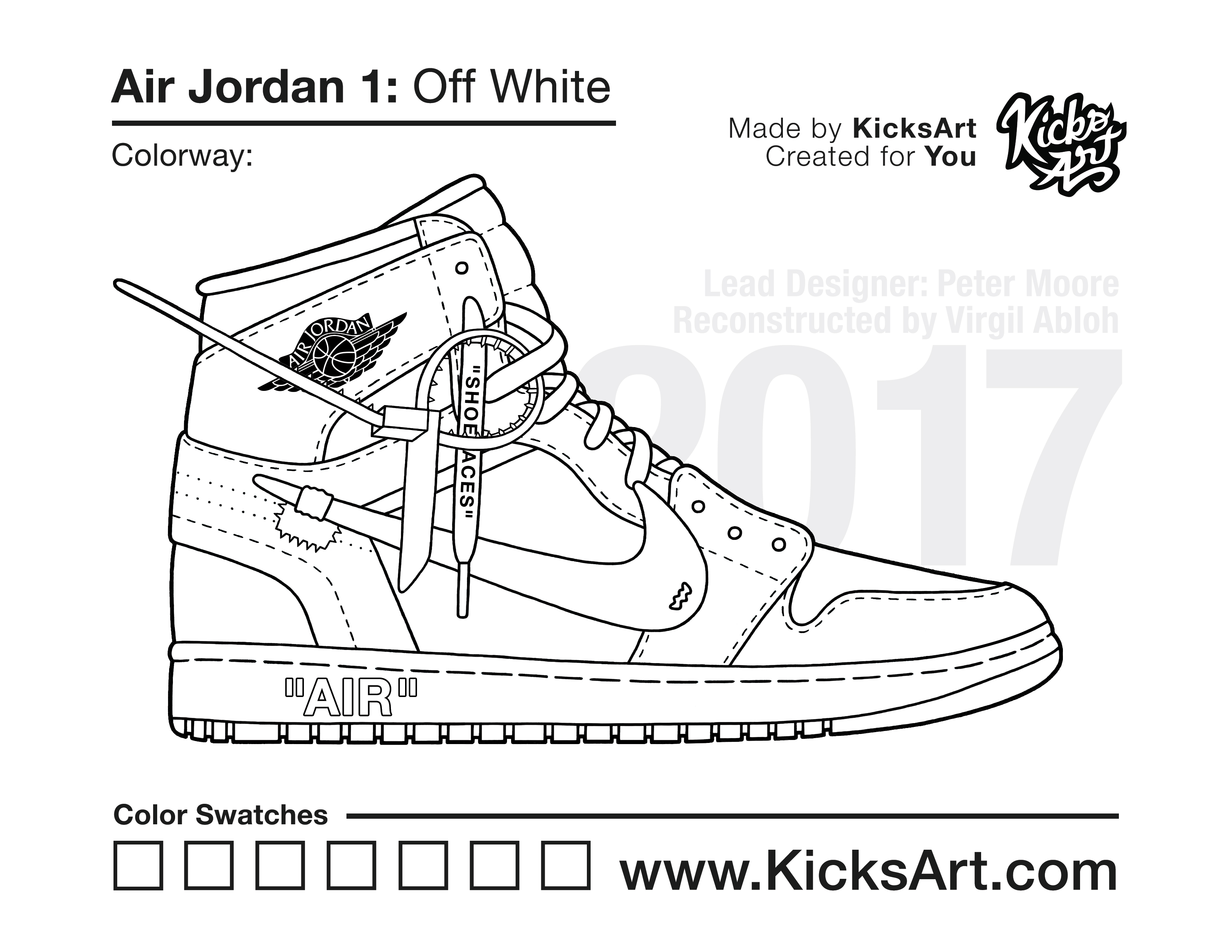 Air Jordan 1 Coloring Pages Sneaker Coloring Pages