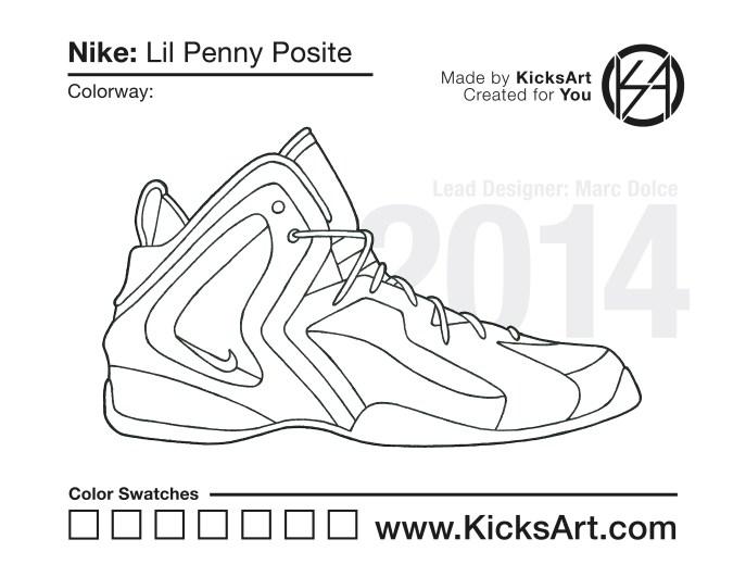 18f8192f39792 Nike Lil Penny Posite - KicksArt