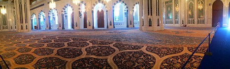 The carpet that was hand woven by 600 Irani women. It took 4 years to create and is the 2nd largest carpet in the world.