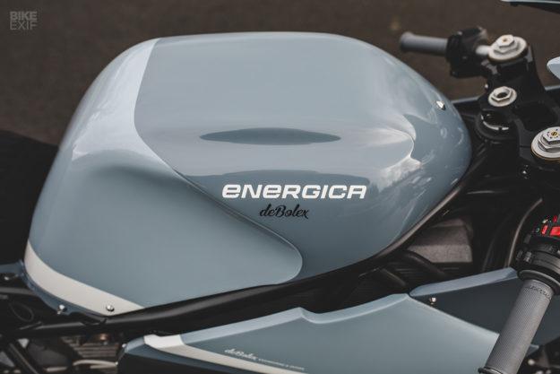 Custom Energica Eva electric motorcycle by deBolex Engineering