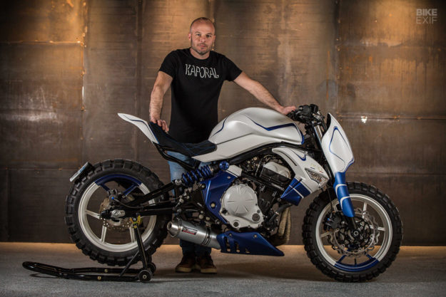 Not Your Typical Custom A Kawasaki Er 6n From France Oliver