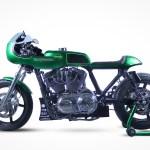 Clean Green A Czech H D Sportster Cafe Racer Bike Exif