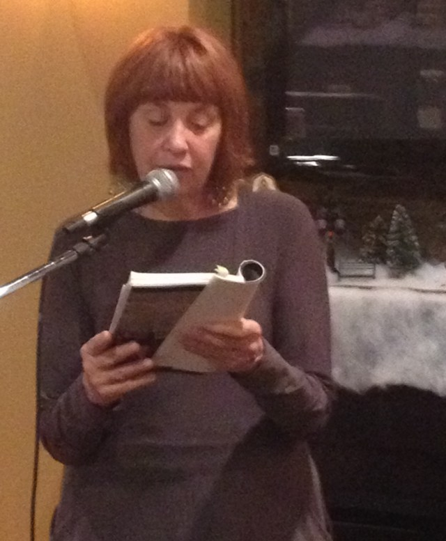 "Mary Minock reads from her memoir ""The Way-Back Room"" at Mentobe Cafe on November 28th."