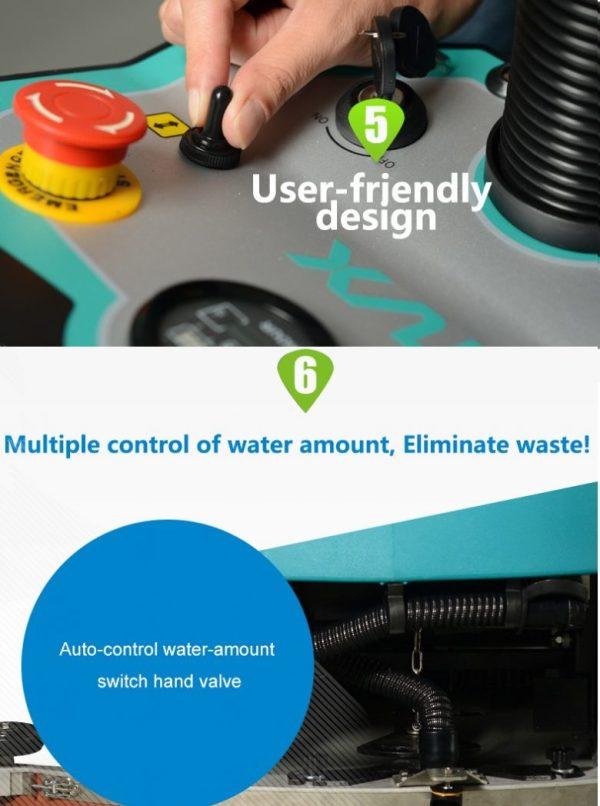 TVX T150/85R Ride-On Floor Scrubber Dryer