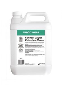 A powerful, safe and economical low foam detergent concentrate for use in carpet soil extraction machines. Turquoise liquid with lavender fragrance. Dilution 1 to 50 pH 9.5