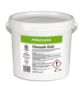 A safe and effective powder extraction detergent for wool and stain resistant nylon carpets. Woolsafe approved maintenance product for wool carpets and rugs. Prochem Fibresafe Gold incorporates a self neutralising pH system which reduces the risk of colour bleed, texture change and re-soiling.