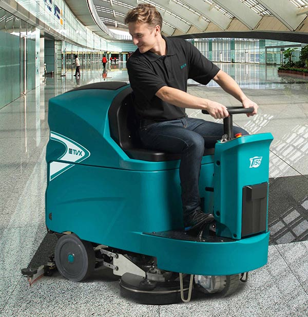 TVX T150 Ride-On Wide Scrubber Dryer – T150/100R