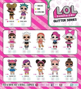 LOL Surprise Glitter Series Doll Checklist List