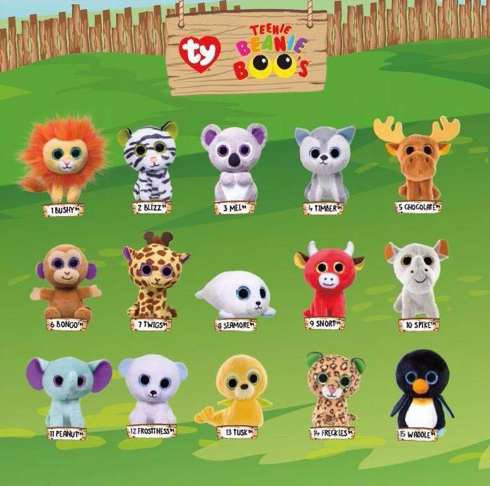 3dd178fab61 McDonald s Happy Meal Toys – July 2017 – Teenie Beanie Boo s – Kids Time