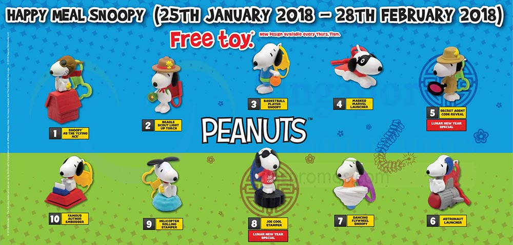51dc17fdbc McDonald s Happy Meal Toys – March 2018 – Peanuts Snoopy – Kids Time