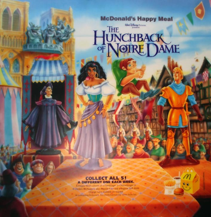 0707c25bdd3b4 McDonald's Happy Meal Toys 1996 – The Hunchback Of Notre Dame – Kids ...