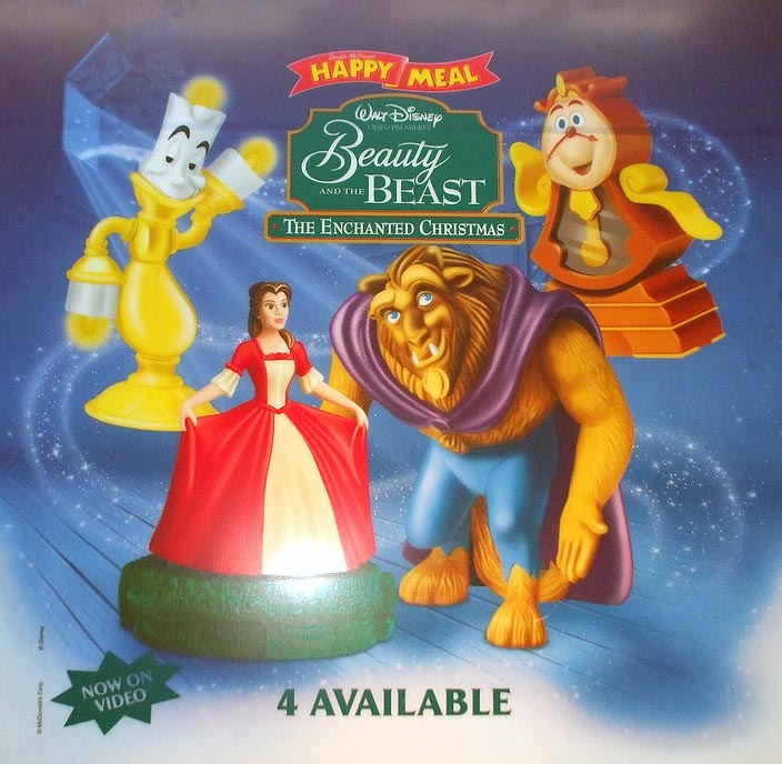 Beauty And The Beast Christmas.Mcdonald S Happy Meal Toys 1997 Beauty The Beast The