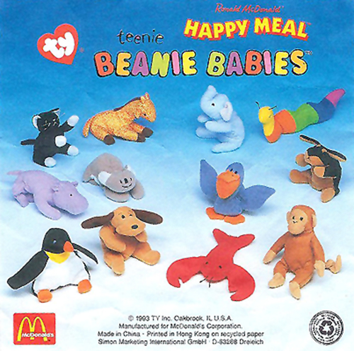 2de8864d0f2 McDonald s Happy Meal Toys 1998 – Teenie Beanie Babies