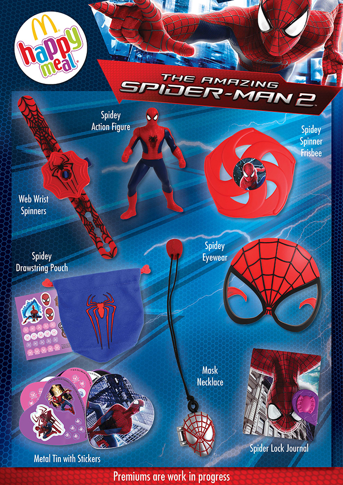 mcdonald�s happy meal toys april 2014 � spiderman 2 � kids