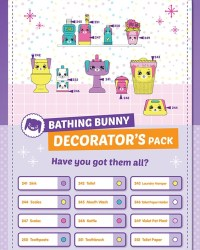 Shopkins Happy Places Season 2 - Bathing Bunny List / Checklist