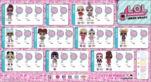 l.o.l. surprise series 4 eye spy under wraps doll tots - list of characters checklist - kids time