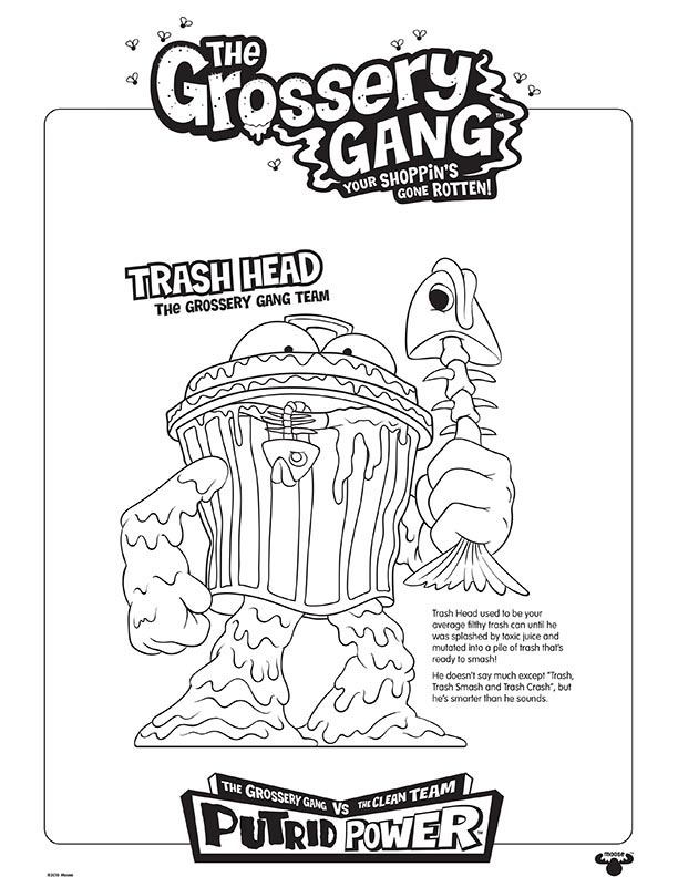 the-grossery-gang-series-9-coloring-sheets-pages-trash-head – Kids Time