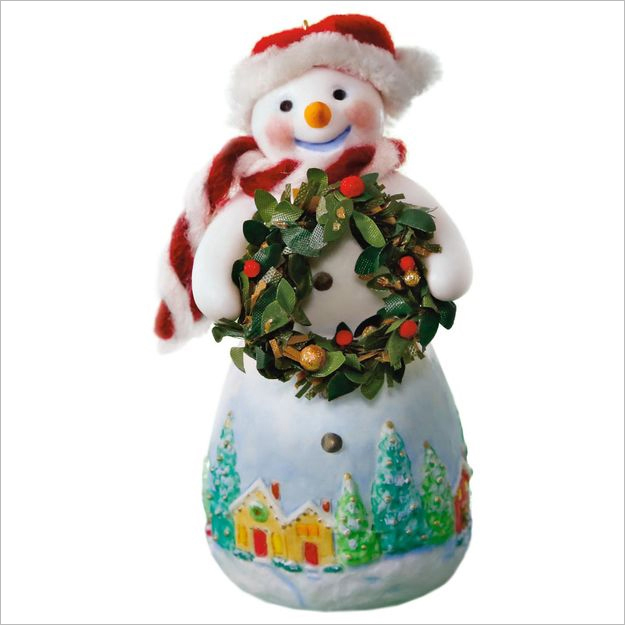 hallmark christmas ornaments 2017 qx9445 snowtop lodge snowman - Hallmark Christmas Decorations